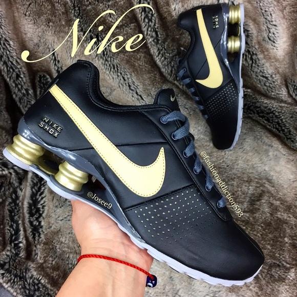 e5d5d92d4ed0 Nike SHOX Women s Black Gold beige shoes sneakers